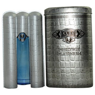 Cuba Prestige Platinum Men's 3-ounce Eau de Toilette Spray