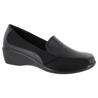 Easy Street Women's Dolores Casual Slip On (Black/Stretch)