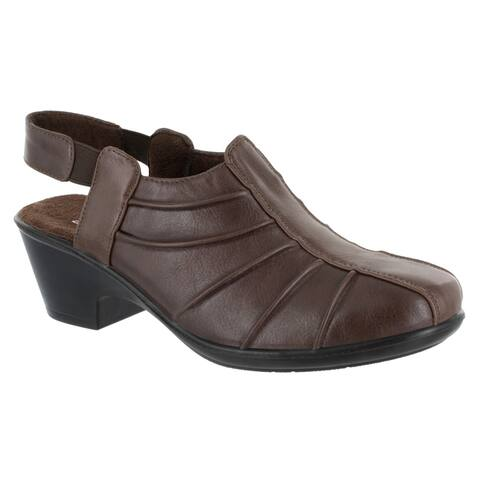 Easy Street Womens Manner Casual Slingback (Brown Burnished)