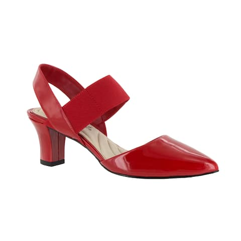 Easy Street Women's Vibrant Pump (Red Patent)