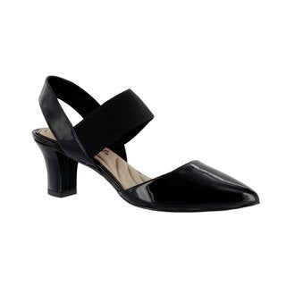 Easy Street Women's Vibrant Pump (Black Patent)