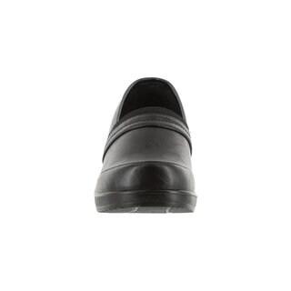 Easy Street Women's Origin Comfort Clog (Black Smooth)