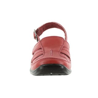 Easy Street Women's Splendid Comfort Clog With Backstrap (Red Tumbled)