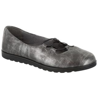Easy Street Women's Effie Flat (Silver Metallic Wash)