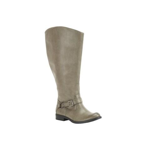 Easy Street Women's Quinn Plus Plus Extra Wide Calf Boot (Granite Burnished)