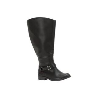 Easy Street Women's Quinn Plus Plus Extra Wide Calf Boot (Black)