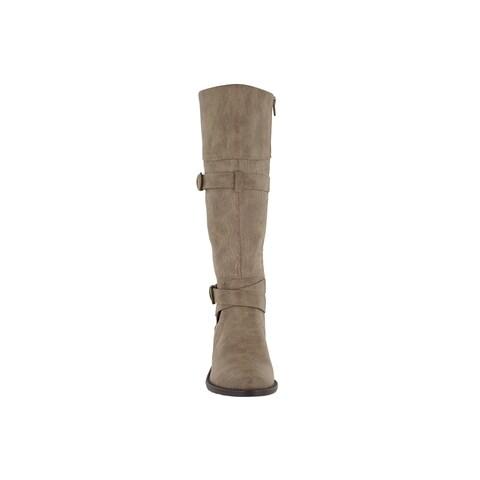 Easy Street Women's Kelsa Tall Boot (Taupe/Embossed)