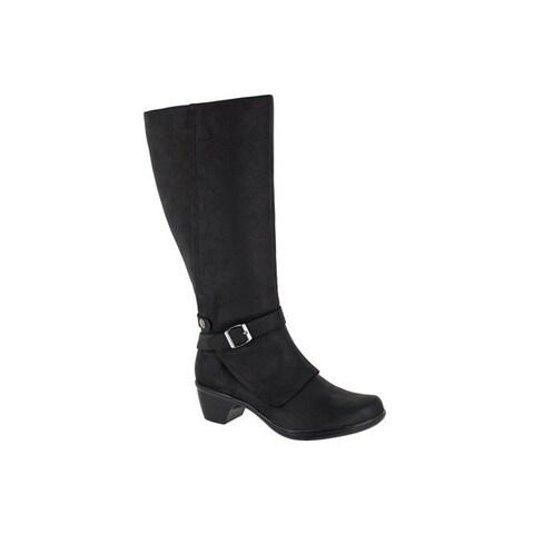 Easy Street Women's Jan Plus Tall Wide Calf Boot (Black)