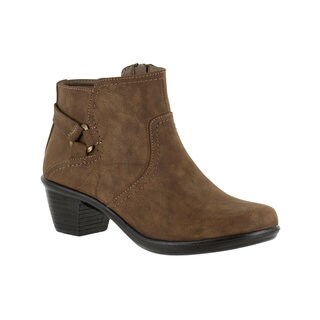 Easy Street Women's Dawnta Bootie (Brown Matte)