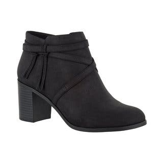 Easy Street Women's Reed Bootie (Black)|https://ak1.ostkcdn.com/images/products/16817462/P23120096.jpg?impolicy=medium