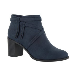 Easy Street Women's Reed Bootie (Navy)