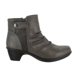 Easy Street Women's Draft Bootie (Grey/Snake)