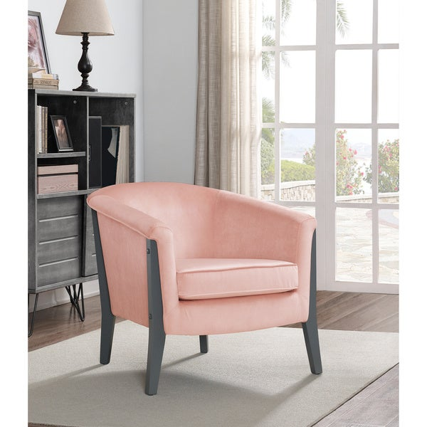 Shop Jasper Laine Canterbury Club Chair Blush Pink Velvet - Free ...