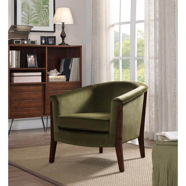 Clay Alder Home Canterbury Club Chair Olive Green Velvet