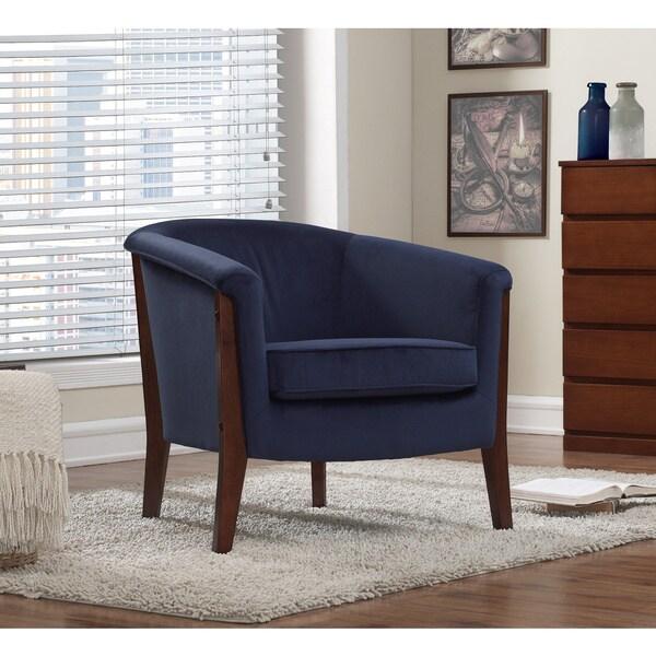 Clay Alder Home Manchester Chair Navy Blue Velvet