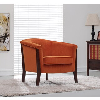 Canterbury Club Chair Rust Orange Velvet