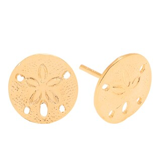 Journee Collection Sterling Silver Sand Dollar Seashell Stud Earrings
