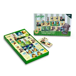 It's A Jungle in My Room 28-piece Wooden Double Sided Dominos