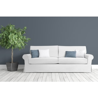Stain-resistant 5-piece White Sandy Sofa Slipcover