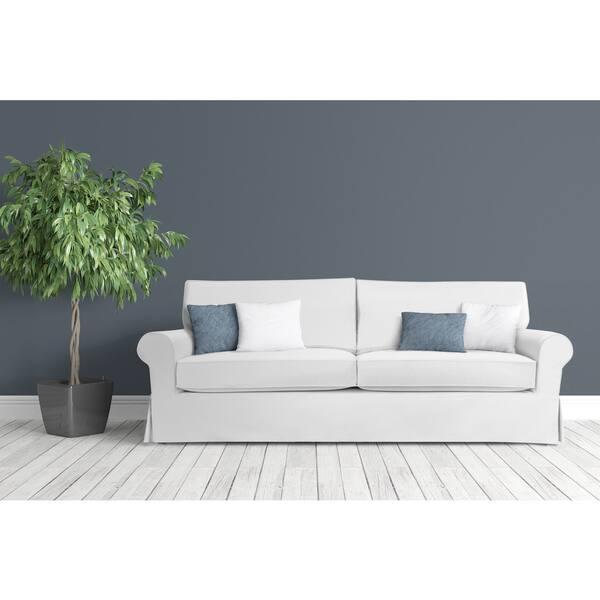 Surprising Shop Stain Resistant 5 Piece White Sandy Sofa Slipcover Creativecarmelina Interior Chair Design Creativecarmelinacom