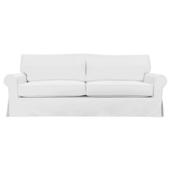 Brilliant Shop Stain Resistant 5 Piece White Sandy Sofa Slipcover Creativecarmelina Interior Chair Design Creativecarmelinacom