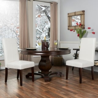 """Set of Two 24"""" Faux Leather Barstools"""