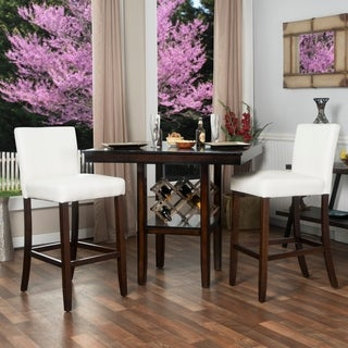 """Set of Two 30"""" Faux Leather Barstools"""