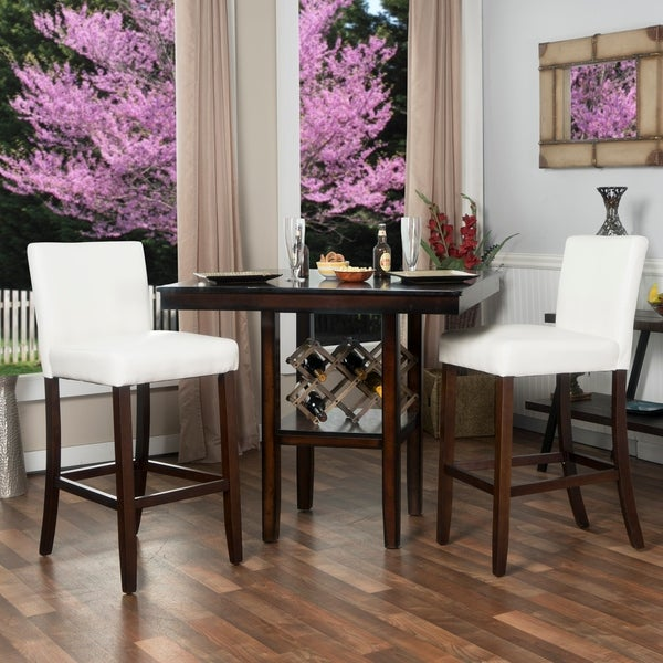 30-inch Faux Leather Barstools (Set of 2)