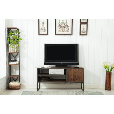 """Stolk Natural Wood and Metal 48"""" TV Stand"""