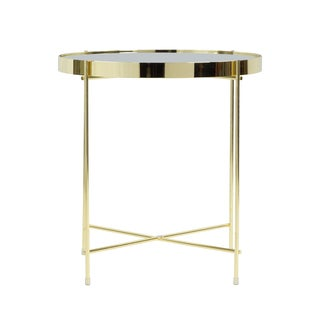 Atlantic Ritz Metal and Glass Side Table