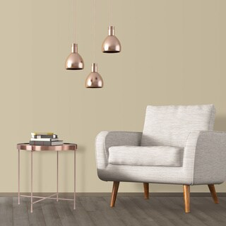 urb SPACE Ritz Rose Gold Metal and Glass Side Table