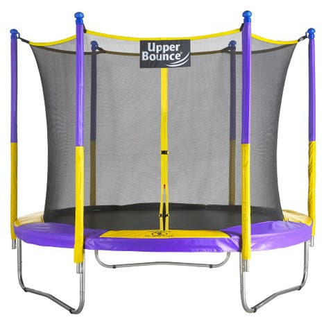 "Upper Bounce 9-foot Trampoline & Enclosure Set Equipped with the New ""EASY ASSEMBLE FEATURE"""