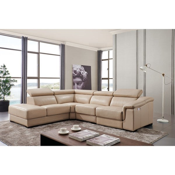 pc laf reclining recliner sectional toletta room product living chaise chocolate furniture