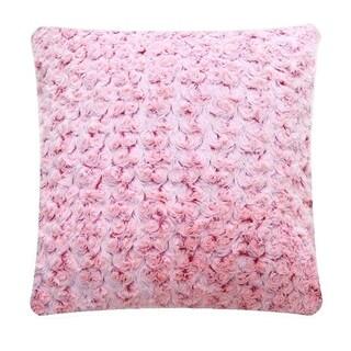 De Moocci Faux Fur Plush 18-inch Throw Pillow