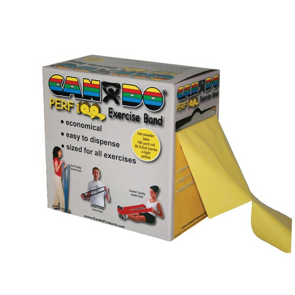 CanDo® Perf 100® Low Powder Exercise Band: 100 yard roll with Perforations