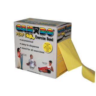 CanDo® Perf 100® Low Powder Exercise Band: 100 yard roll with Perforations https://ak1.ostkcdn.com/images/products/16818355/P23120944.jpg?impolicy=medium