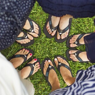 Team Bride Black Flip Flops