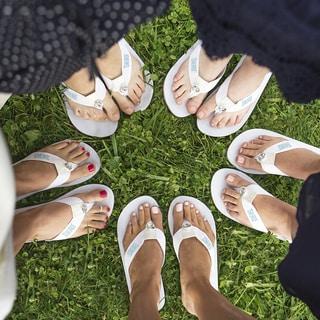 Team Bride Whtie Flip Flops