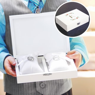 Personalized Floral Wedding Ring Bearer Box