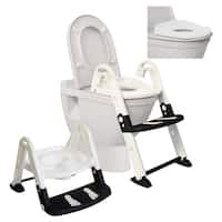 Dreambaby 3-in-1 Glow in The Dark Toilet Trainer - Black/White