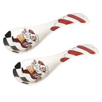 Chef Ceramic Spoon Rest - Set of 2