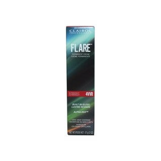 Clairol FLARE Permanent Cream Hair Color 4VVR Medium Intense Violet Red