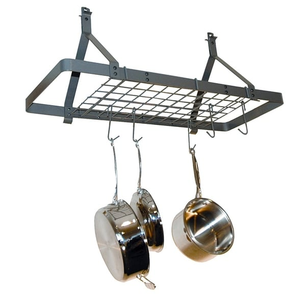 Rack It Up Rectangle Ceiling Rack  Steel Gray