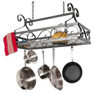 Enclume Handcrafted Decor Basket Rack - Large Hammered Steel