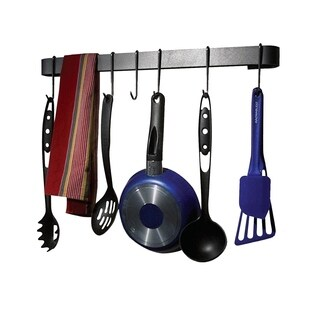 "Rack It Up 22"" Wall Rack Utensil Bar Steel Gray"