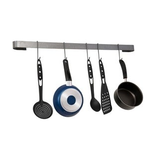 Rack It Up Long Wall Rack Utensil Bar Steel Gray