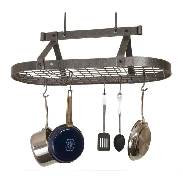 """Shop Enclume Handcrafted 36"""" Oval Ceiling Pot Rack - Free ..."""