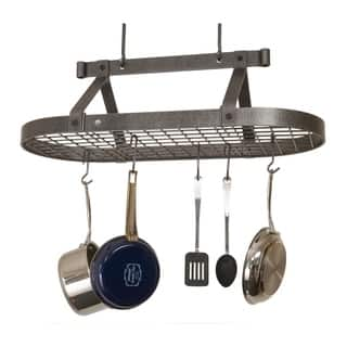 "Enclume Handcrafted 36"" Oval Ceiling Pot Rack