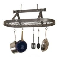"Enclume Handcrafted 36"" Oval Ceiling Pot Rack"