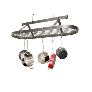 "Enclume Handcrafted 48"" Oval Ceiling Pot Rack"